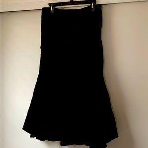Style & Co. black corduroy fishtail hem skirt